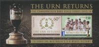 AUS SGMS4124 The Urn Returns: 2013-4 Cricket Ashes series miniature sheet